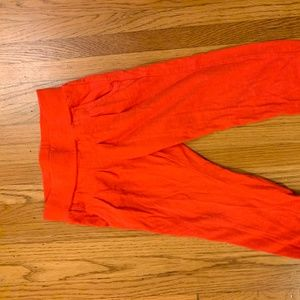 Girls Size 5-6 Red Pull-on pants